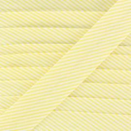 Cotton bias binding, mini stripes - yellow
