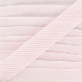 Cotton bias binding, mini stripes - pink