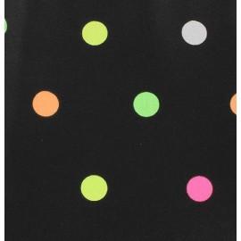 Tissu toile cirée Rondy Nuit Noir x 10cm
