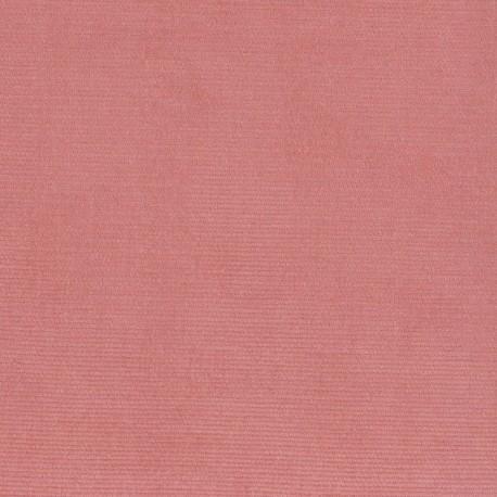 Tissu velours milleraies élasthanne chair x10cm