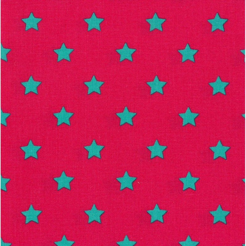 Little stars cotton fabric fuchsia x 10cm ma petite for Au maison fabric