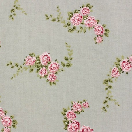 Cotton blossom fabric beige x 10cm ma petite mercerie for Au maison fabric