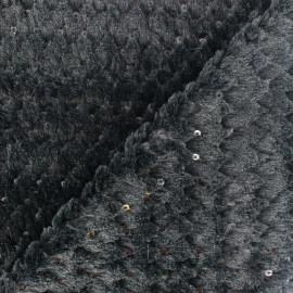 ♥ Only one piece 220cm X 145cm  ♥ Glitter Fur - Black