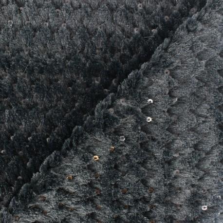 Glitter Fur - Black x 10cm
