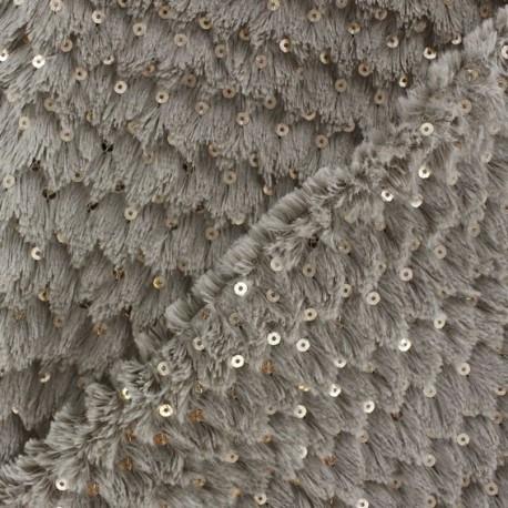 Fourrure Glitter brun x 10cm