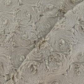Fourrure fantaisie rosace beige x 10cm