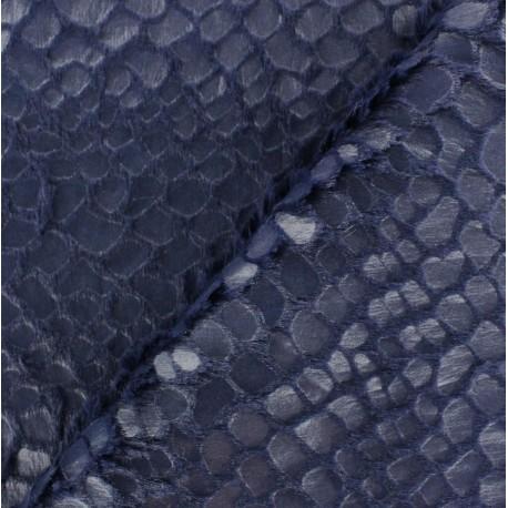 Fourrure fantaisie Shiny bleu marine x 10cm