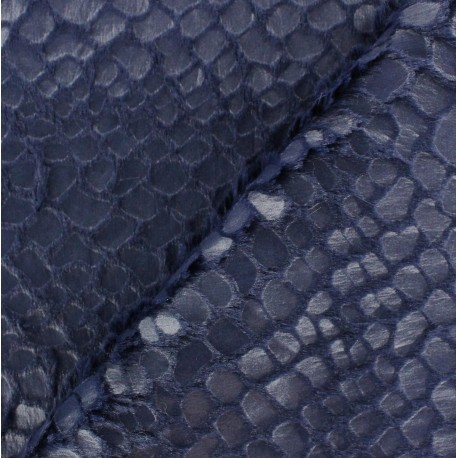 Shiny fantasy fur - Navy blue x 10cm