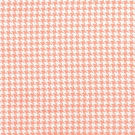 Tissu Tiny Houndstooth Peach x 10cm