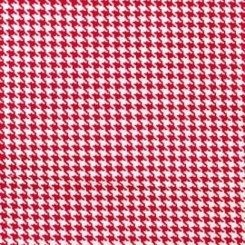Tissu Tiny Houndstooth Rouge x 10cm