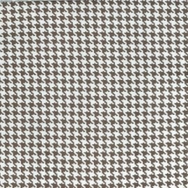 Tissu Tiny Houndstooth Taupe x 10cm
