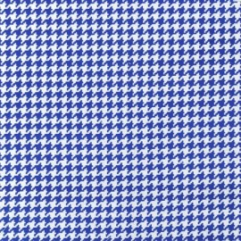 Tissu Tiny Houndstooth Royal x 10cm