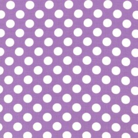Fabric Ta Dot Purple x 10cm
