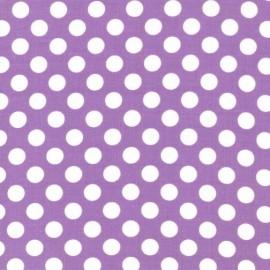 Tissu Ta Dot Purple x 10cm
