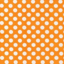 Tissu Ta Dot Apricot x 10cm