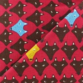 Tissu Fox grenat x 10cm