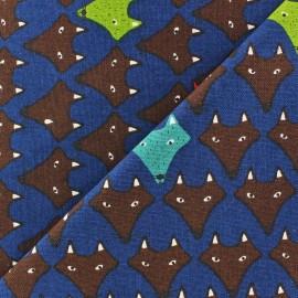 Tissu Fox bleu x 10cm