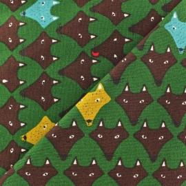 Tissu Fox vert x 10cm