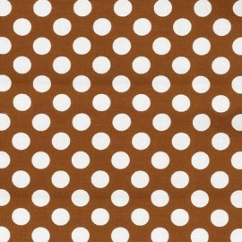 Tissu Ta Dot Cinnamon x 10cm