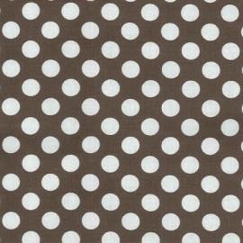 Tissu Ta Dot Taupe x 10cm