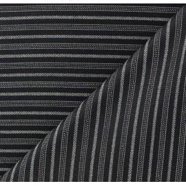 Tissu tailleur rayures Alphonse x 10cm