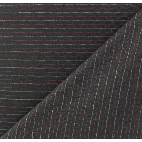 Striped Tailor Fabric - Hugo x 10cm