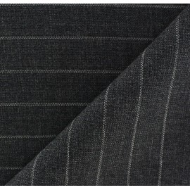 Tissu tailleur rayures Yves x 10cm