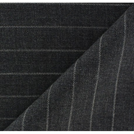 Striped Tailor Fabric - Yves x 10cm