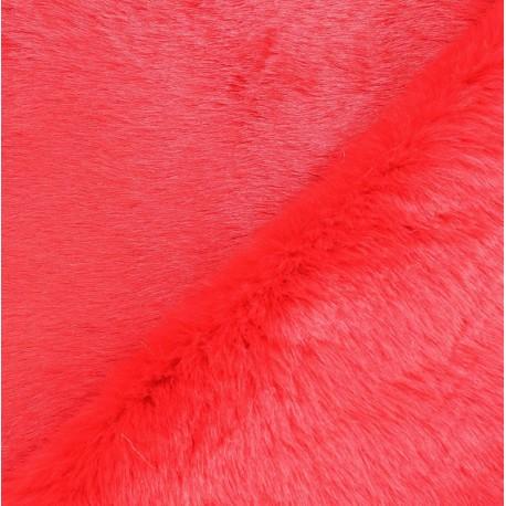 Fourrure fantaisie Karmie rose corail x 10cm