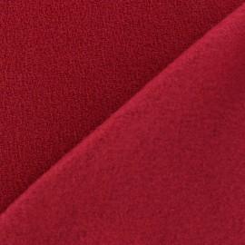 Tissu Polaire bouclée rouge x 10cm