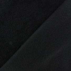 Tissu Polaire bouclée noir x 10cm