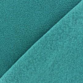 Tissu Polaire bouclée bleu vert x 10cm