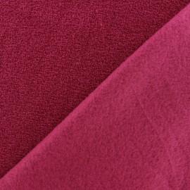 Tissu Polaire bouclée framboise x 10cm