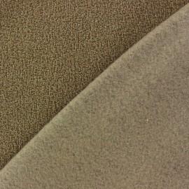 Tissu Polaire bouclée sable x 10cm