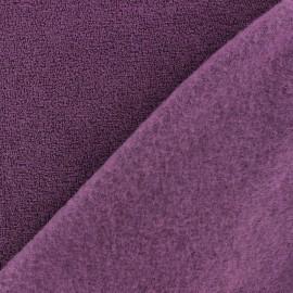 Tissu Polaire bouclée violet x 10cm