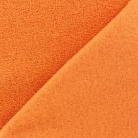 Tissu Polaire bouclée melon x 10cm
