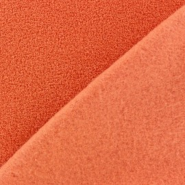 Tissu Polaire bouclée brique x 10cm