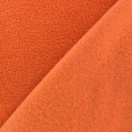 Tissu Polaire bouclée orange x 10cm