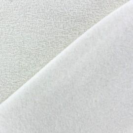 Tissu Polaire bouclée écru x 10cm