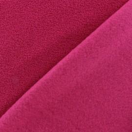 Tissu Polaire bouclée fuchsia x 10cm