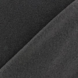 Tissu Polaire bouclée ardoise x 10cm