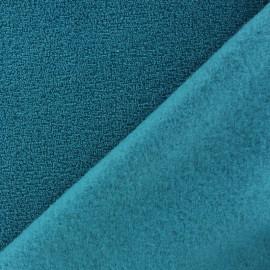Tissu Polaire bouclée bleu canard x 10cm