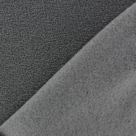 Tissu Polaire bouclée gris x 10cm
