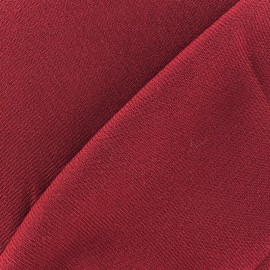 Coat wool fabric - carmine x 10cm