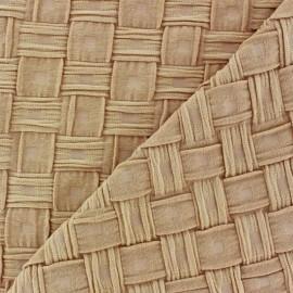 Mat Effect Jersey Fabric - Beige
