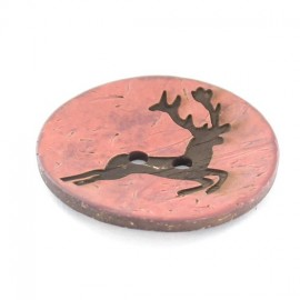 Button, coco, deer - pink