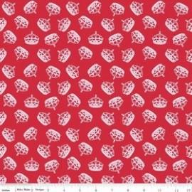 Tissu Hollywood Sparkle Crown Red x 10cm