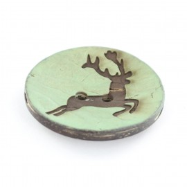 Button, coco, deer - sea green