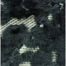 Tissu polyester imprimé effet enduit gris x 10 cm