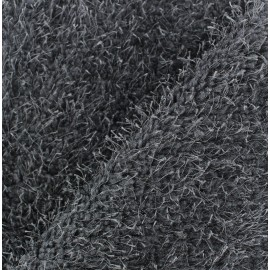 Fourrure mouton fantaisie fil gris x 10cm